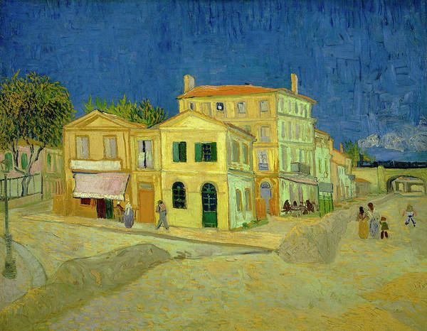 Wall Art - Painting - Van Gogh Yellow House by Vincent Van Gogh