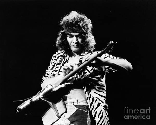 Eddie Van Halen  Art Print by Chris Walter
