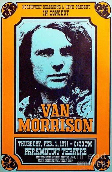 Wall Art - Digital Art - Van Morrison Paramount Theatre Poster by Pd