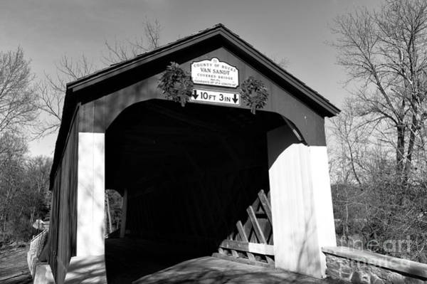 Photograph - Van Sandt Covered Bridge Mono by John Rizzuto