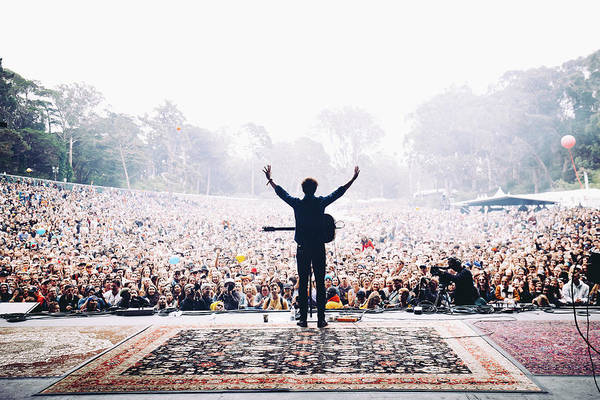 Concert Photograph - Vance Joy - Outside Lands by Jack Gorlin