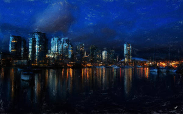 Painting - Vancouver At Dusk by Dean Wittle