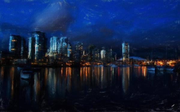 Vancouver At Dusk Art Print