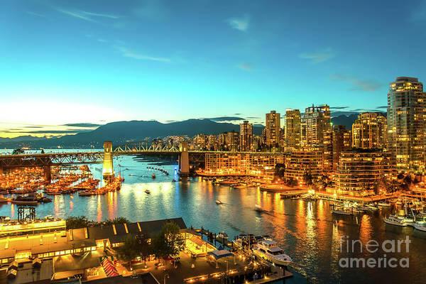Canada Wall Art - Photograph - Vancouver At Dusk by Viktor Birkus
