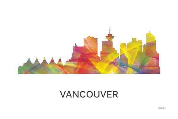 Vancouver Digital Art - Vancouver B.c. Skyline by Marlene Watson