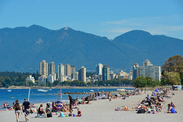 Photograph - Vancouver Beach by Songquan Deng