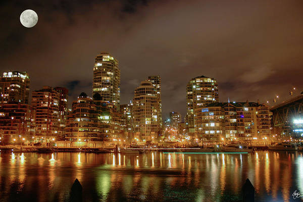 Photograph - Vancouver By Moonlight by Wayne King