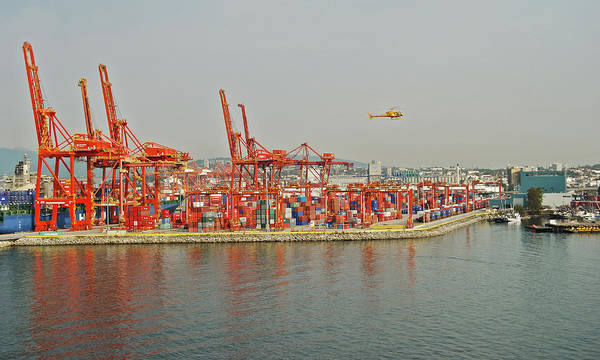 Port Of Vancouver Wall Art - Photograph - Vancouver Cargo Dock by Michael Peychich
