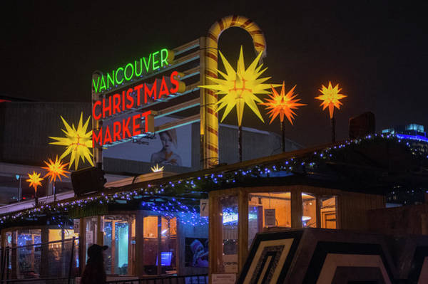 Photograph - Vancouver Christmas Market  by Ross G Strachan