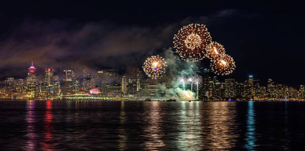 Photograph - Vancouver City Fireworks by Pierre Leclerc Photography