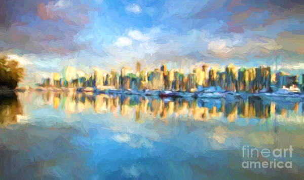 Wall Art - Painting - Vancouver City by Jim Hatch