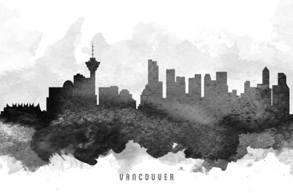 Wall Art - Painting - Vancouver Cityscape 11 by Aged Pixel