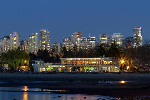 Metro Vancouver Wall Art - Photograph - Vancouver Condos And Kits Beach by Michael Russell