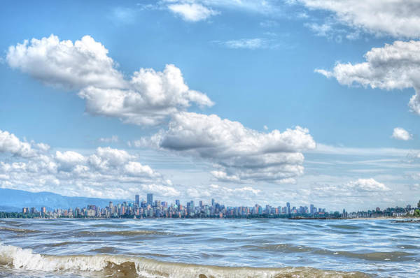 Metro Vancouver Wall Art - Photograph - Vancouver From Spanish Banks Beach by Carol Cottrell