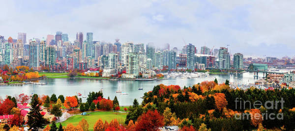 Canada Wall Art - Photograph - Vancouver In The Fall - Panorama by Viktor Birkus