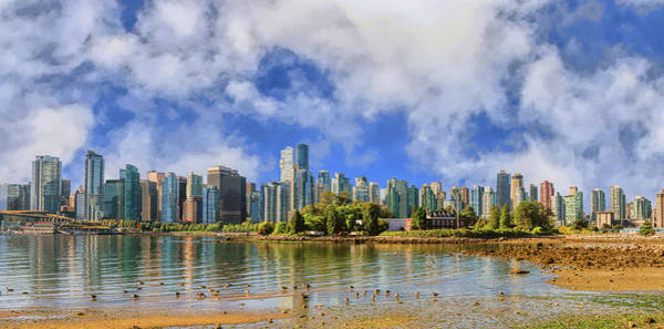 Photograph - Vancouver Skyline Under The Morning Clouds by Ola Allen