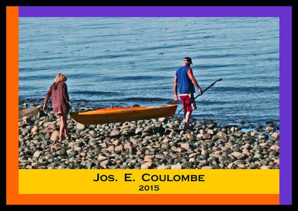 Digital Art - Vancouver Island - British Columbia  Kayaking by Joseph Coulombe