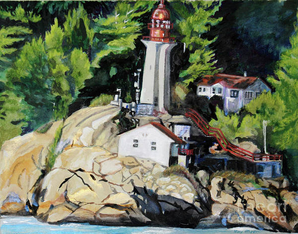 Vancouver Mixed Media - Vancouver Lighthouse by Lori Moon