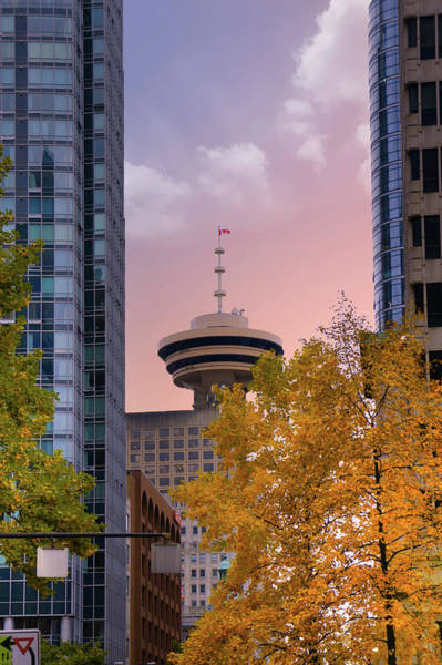 Vancouver Digital Art - Vancouver Lookout From Gastown by Art Spectrum