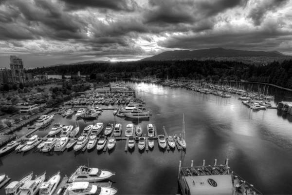 Photograph - Vancouver Marina Sunset by Dillon Kalkhurst