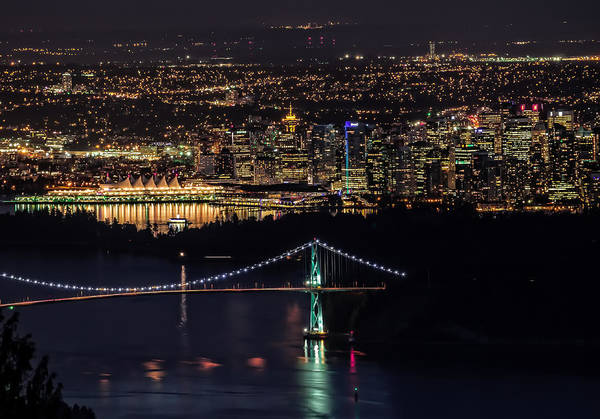 Photograph - Vancouver Night From Cypress Mountain by Gary Karlsen