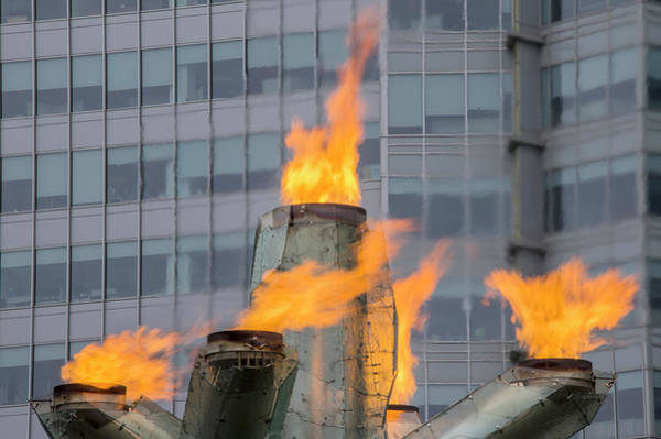 Photograph - Vancouver Olympic Cauldron 2 by Ross G Strachan