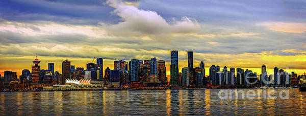 Evening Wall Art - Photograph - Vancouver In Yellow. by Viktor Birkus
