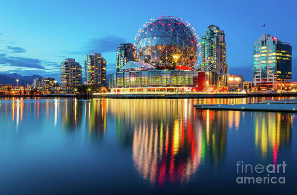 False Creek Wall Art - Photograph - Vancouver Science World by Inge Johnsson