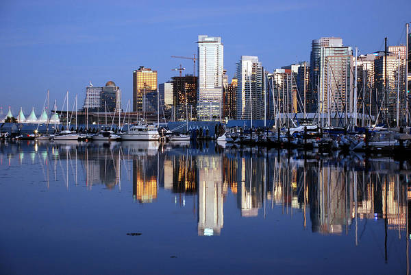 Landscaping Photograph - Vancouver Skyline by Alasdair Turner