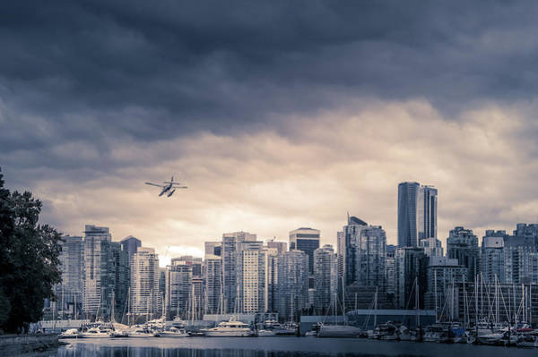 False Creek Wall Art - Photograph - Vancouver Skyline by Art Spectrum