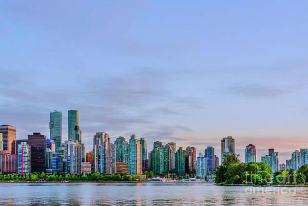 Wall Art - Photograph - Vancouver Skyline At Sunset by Viktor Birkus