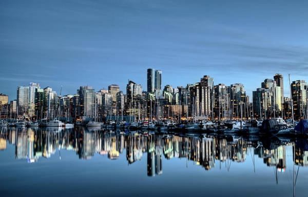 Wall Art - Photograph - Vancouver Skyline Canada by Mark Duffy