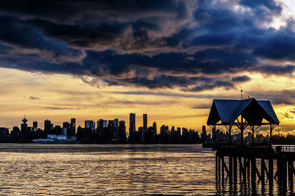Wall Art - Photograph - Vancouver Skyline Canada Sunset by Mark Duffy