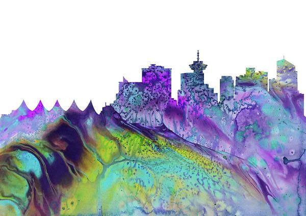 Vancouver Digital Art - Vancouver Skyline by Erzebet S