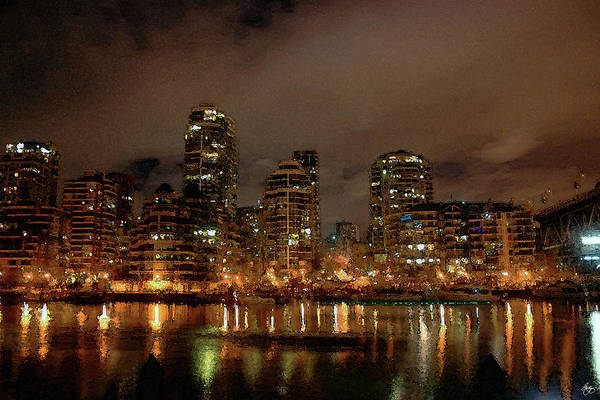 Photograph - Vancouver Skyline Through A Painters Eyes by Wayne King