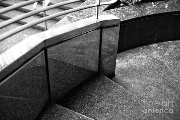 Wall Art - Photograph - Vancouver Stair Curves Mono by John Rizzuto