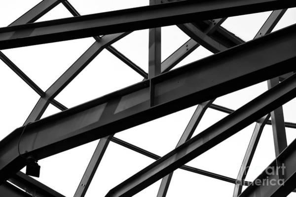 Wall Art - Photograph - Vancouver Steel Patterns Mono by John Rizzuto