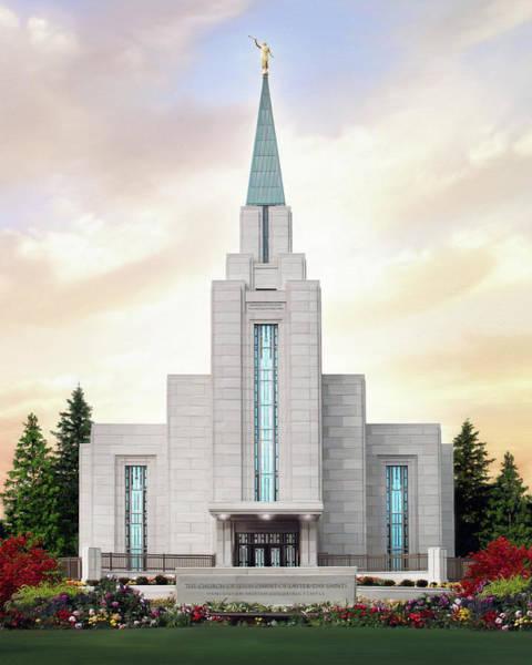 Vancouver Digital Art - Vancouver Temple by Brent Borup