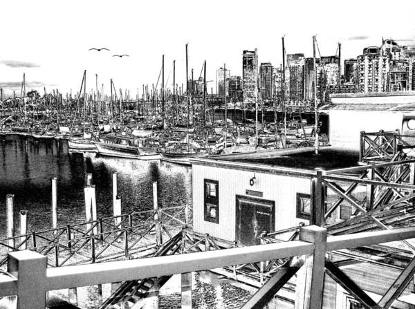 Vancouver Digital Art - Vancouver Waterfront by Will Borden