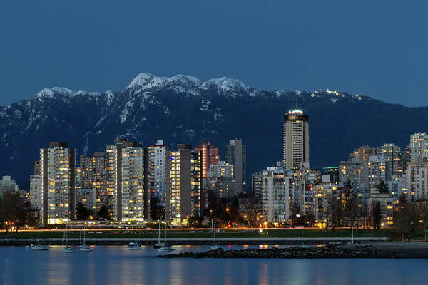 Metro Vancouver Wall Art - Photograph - Vancouver's West End And Mount Seymour by Michael Russell
