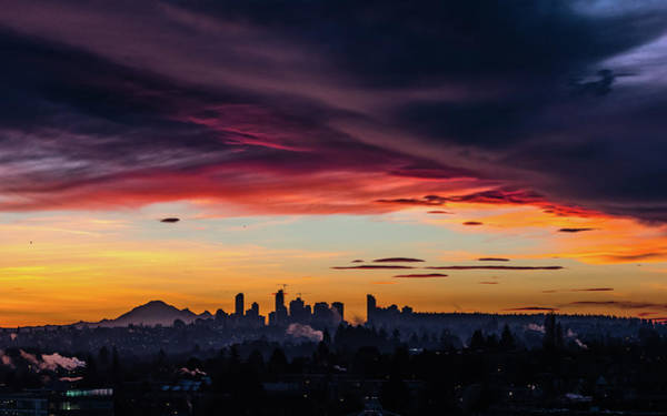 Vancouver City Photograph - Vancovuer Sunrise by Ian Stotesbury