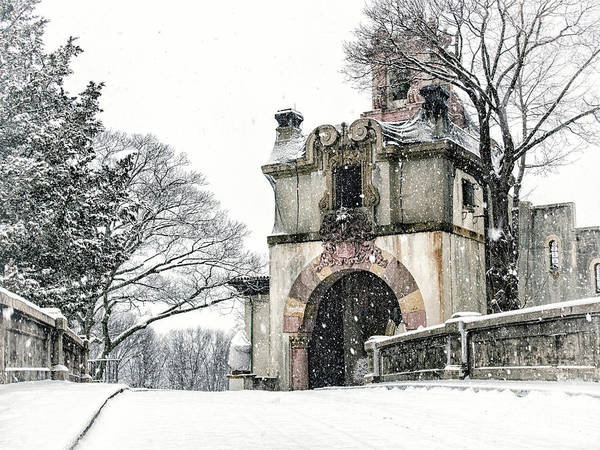 Photograph - Vanderbilt Mansion During The Snow by Alissa Beth Photography