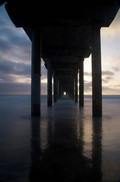 Scripps Pier Photograph - Vanishing Point by Michael White