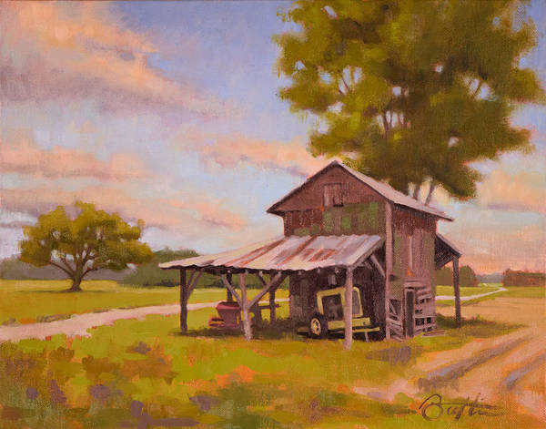 Tobacco Wall Art - Painting - Vanishing Tobacco Barn by Todd Baxter