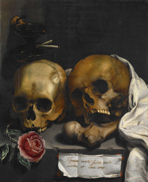 Rotten Wall Art - Painting - Vanitas, Still Life by J Falk