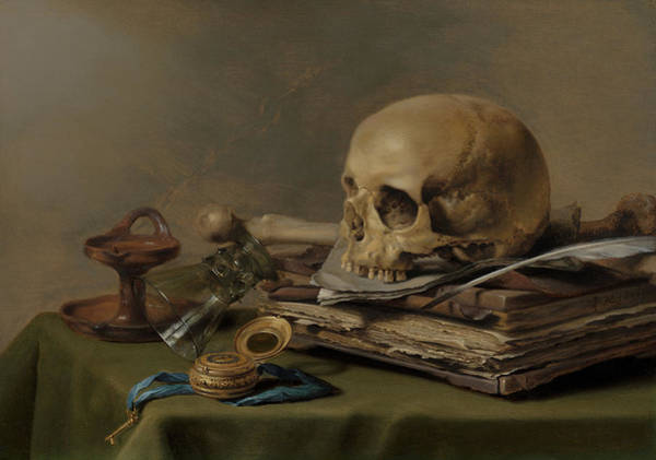Rotten Wall Art - Painting - Vanitas Still Life by Pieter Claesz