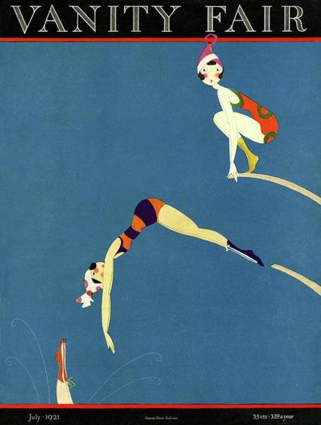 Swimsuit Painting - Vanity Fair July 1921 Cover by A H Fish