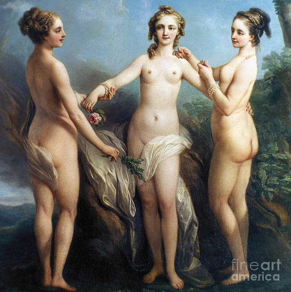 Painting - Vanloo: Three Graces by Granger