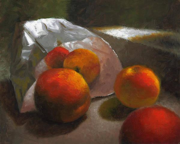 Wall Art - Painting - Vanzant Peaches by Timothy Jones