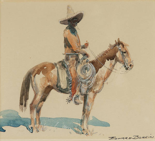 Wall Art - Painting - Vaquero  by MotionAge Designs